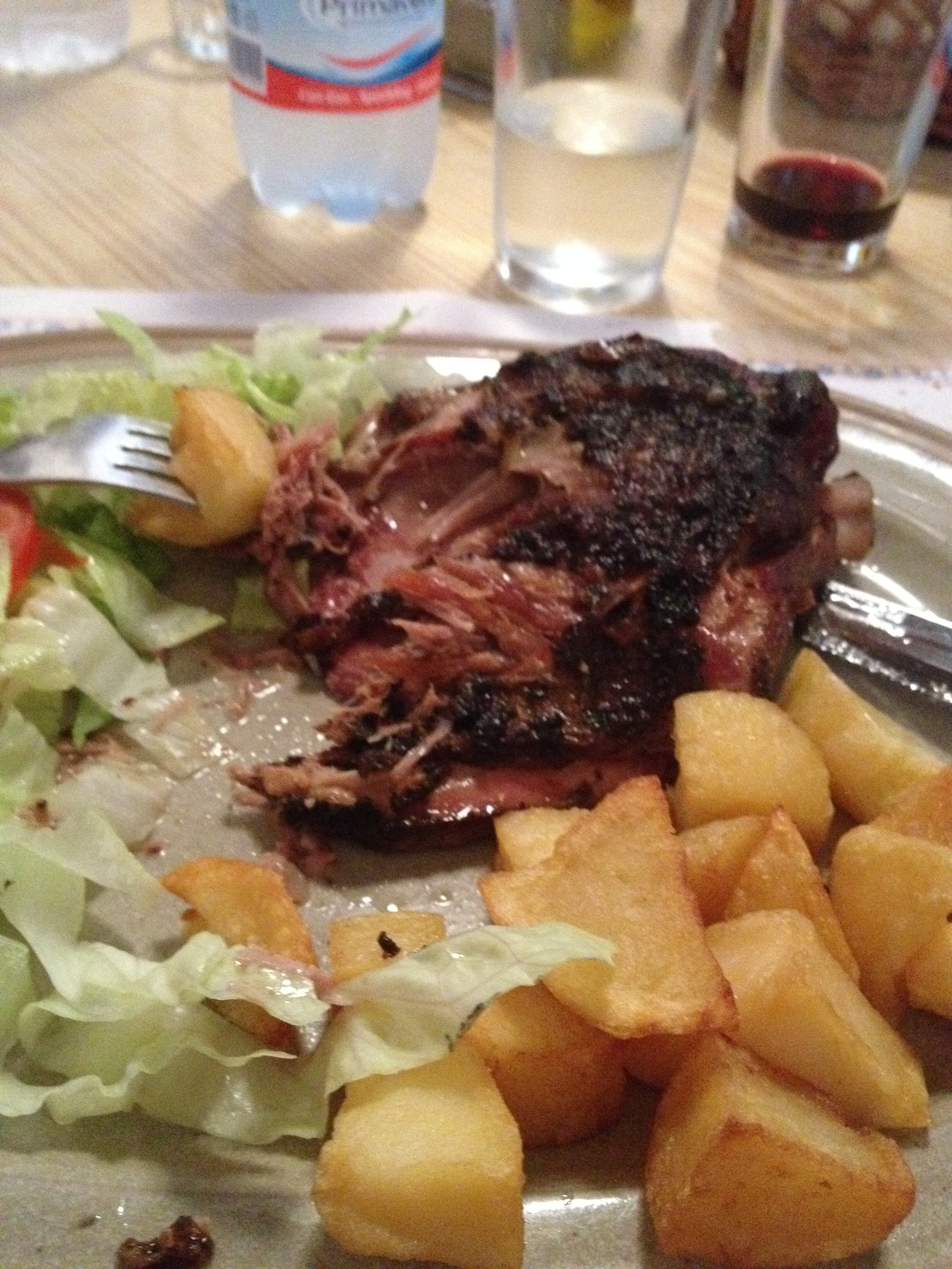 Roasted Lamb in Antonia's Restaurant, Alaro, Majorca